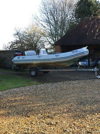 "Zodiac Medline I RIB ""Salar"" 4.8m (2001) incl trailer ��4500 ovno"