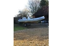 "Zodiac Medline I RIB ""Salar"" 4.8m (2001) incl trailer £4500 ovno"
