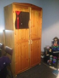 Second hand - Double wardrobe with mirror.