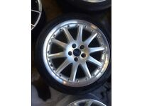 "18"" MINT CONDITION ST220 MONDEO GALAXY ALLOY WHEELS FORD FOCUS SET OF 4 WITH TYRES"