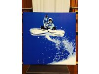 Limited edition Canvas print - snowboarder