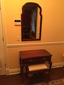 Console table, bench & mirror