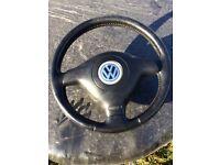 3 spoke Passat bora golf steering wheel