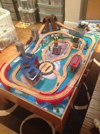 Toys r us. Large Wooden train set