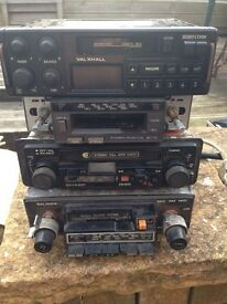 Old car radio and speaker