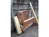 Solid pine Single bed Shop display is new only £90 good bargain call now
