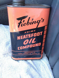 "RARE ""Fiebing's Neatsfoot Oil Compound"" 16 oz TIN."