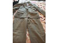 Grey trouser suit 12/14 brand new