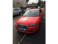 Audi A3 2.0tdi 2007 57 lovely car in stunning red quick sale £3295no offers AA or RAC welcome
