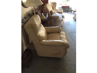 Manual Reclining Leather Chair