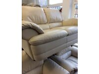 2 seater sofa with 2 chairs and puff.