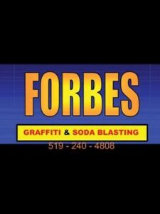 Graffiti removal. Forbes Mobile Wash.