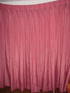Rose colored pleated full curtains drapes