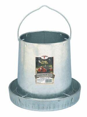 Poultry Chicken 12 Pound Tube Hanging Feeder Space Saver Galvanized Steel