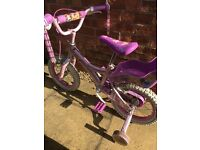 Girls Disney Princess Bike with dolls seat