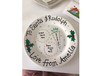 Personalised Christmas plates