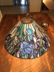 Tiffany stained glass hanging light