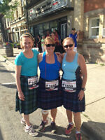 3 registration bibs for Perth Kilt Run