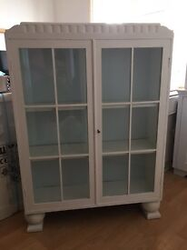 Wooden, painted, display cabinet