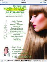 Brazilian keratin, hair Salon service : 6476885816