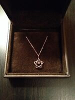 14 KT White Gold Necklace with Diamond Star Pendant- Worn Once!