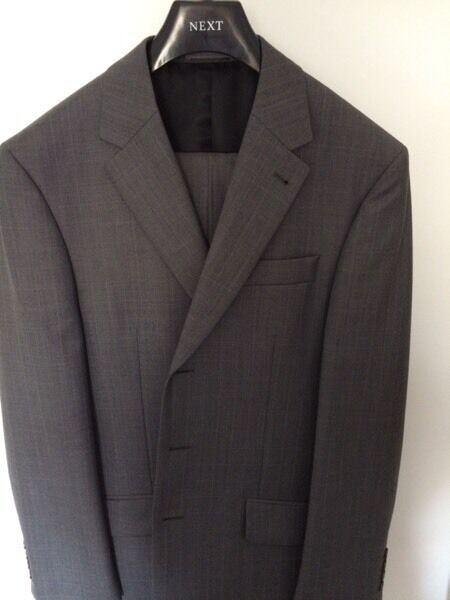 Mens NEXT Grey Suit - 38/32 - Immaculate!