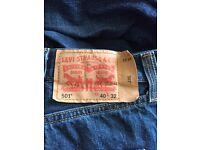 3 pairs of Levi Straus 501 jeans