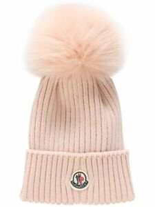 Brand new Moncler 100% virgin wool with fox fur pom hat