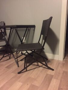 REDUCED Glass table with matching chairs  Regina Regina Area image 3