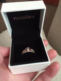 Rose Gold Pandora Tiara Ring