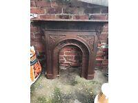 Cast Iron Victorian Fireplace.