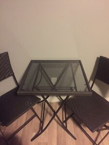 REDUCED Glass table with matching chairs  Regina Regina Area image 2