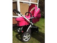 MOTHERCARE MY4 PRIAM ** PINK ** EXCELLENT CONDITION ** £80