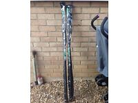 Fishing gear £20 THE LOT 2 new landing poles and 4 rod tubes