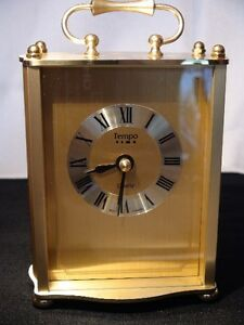 Tempo Time Solid Brass Clock
