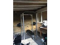 Mirafit Olympic squat Power cage bodymax rubber barbell weights 145kg commercial Taurus bench