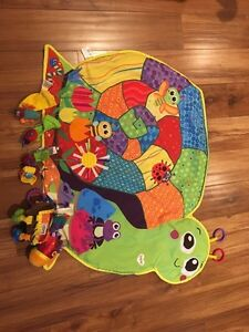 Lamaze play mat, wrist/feet toys and car seat toy