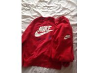 Red Nike air tracksuit