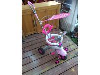 Pink kids trike