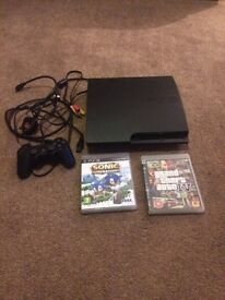 PlayStation 3 one controller & 2 games