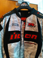 SUZUKI NEW GSXR ICON JACKET WITH LEATHER SLEAVES SIZE XL