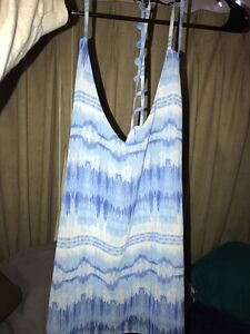 Blue&White Tank Top-Large