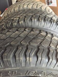 Studded truck tires