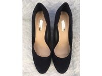 Dorothy Perkins black wedge shoes
