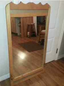miroir antique 70ans en bois