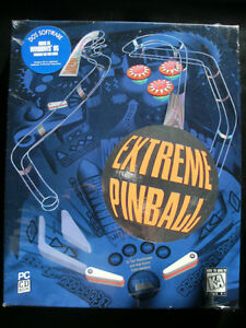 PC Game: EXTREME PINBALL (1995 PC CD-ROM Software) New & Sealed!