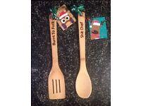 'Harsh Words' Insulting wooden engraved spoon, joke, funny, secret Santa, gift . Free postage