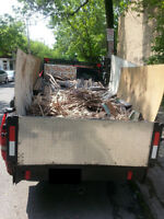 Ramasse de debris de renovation, construction