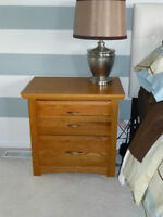 2 Beautiful solid wood side tables from Smitty's Fine Furniture.