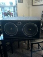 Kickers 2 10 inch sub woffers in felt box ($200.obo)